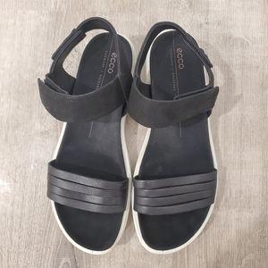 ECCO Flowt Strap Black Sandal